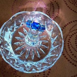 NEW DARK BLUE SAPPHIRES RING 7 sz